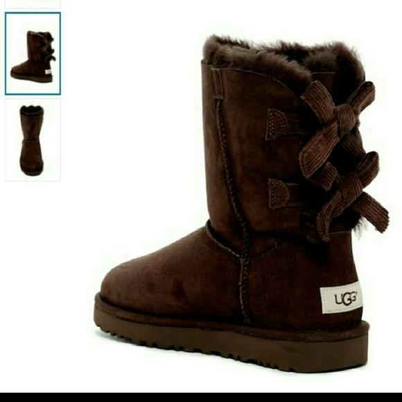 6558e870e80 UGG's Dark brown Bow boot women size 6 NWT